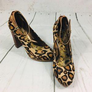 Sam Edelman Layla Leopard Chunky High Heels